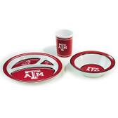 Texas A&M Aggies Kid's 3 Pc. Dish Set