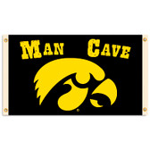 Iowa Hawkeyes   Man Cave 3 Ft. X 5 Ft. Flag W/ 4 Grommets