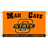 Oklahoma State Cowboys Man Cave 3 Ft. X 5 Ft. Flag W/ 4 Grommets