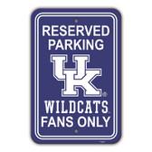 "Kentucky Wildcats 12"" X 18"" Plastic Parking Sign"