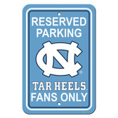 "North Carolina Tar Heels 12"" X 18"" Plastic Parking Sign"