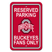 "Ohio State Buckeyes 12"" X 18"" Plastic Parking Sign"