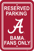 "Alabama Crimson Tide 12"" X 18"" Plastic Parking Sign"