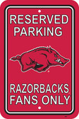 "Arkansas Razorbacks 12"" X 18"" Plastic Parking Sign"