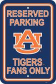 """Auburn Tigers 12"""" X 18"""" Plastic Parking Sign"""