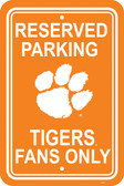 "Clemson Tigers 12"" X 18"" Plastic Parking Sign"