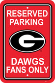 "Georgia Bulldogs 12"" X 18"" Plastic Parking Sign"