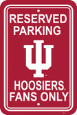 "Indiana Hoosiers 12"" X 18"" Plastic Parking Sign"