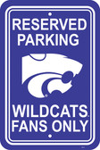"Kansas State Wildcats  12"" X 18"" Plastic Parking Sign"
