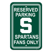 "Michigan State Spartans 12"" X 18"" Plastic Parking Sign"