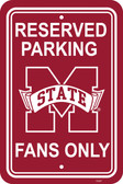 "Mississippi State Bulldogs 12"" X 18"" Plastic Parking Sign"