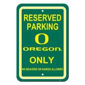 "Oregon Ducks 12"" X 18"" Plastic Parking Sign"