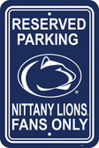 "Penn State Nittany Lions 12"" X 18"" Plastic Parking Sign"