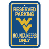 "West Virginia Mountaineers 12"" X 18"" Plastic Parking Sign"
