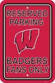"Wisconsin Badgers 12"" X 18"" Plastic Parking Sign"