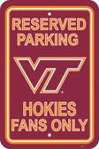 "Virginia Tech Hokies 12"" X 18"" Plastic Parking Sign"