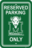 "Marshall Thundering Herd 12"" X 18"" Plastic Parking Sign"