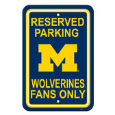 "Michigan Wolverines 12"" X 18"" Plastic Parking Sign"