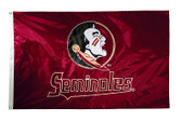 Florida State Seminoles 2-sided Nylon Applique 3 Ft x 5 Ft Flag w/ grommets