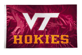 Virginia Tech Hokies 2-sided Nylon Applique 3 Ft x 5 Ft Flag w/ grommets