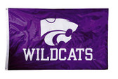 Kansas State Wildcats  2-sided Nylon Applique 3 Ft x 5 Ft Flag w/ grommets