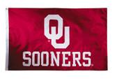 Oklahoma Sooners 2-sided Nylon Applique 3 Ft x 5 Ft Flag w/ grommets