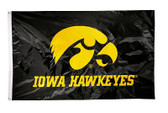 Iowa Hawkeyes   2-sided Nylon Applique 3 Ft x 5 Ft Flag w/ grommets