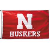 Nebraska Cornhuskers 2-sided Nylon Applique 3 Ft x 5 Ft Flag w/ grommets