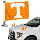 """Tennessee Volunteers Ambassador 4"""" x 6"""" Car Flag Set of 2"""
