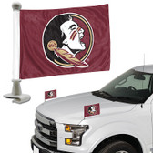 "Florida State Seminoles Ambassador 4"" x 6"" Car Flag Set of 2"