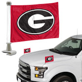 "Georgia Bulldogs Ambassador 4"" x 6"" Car Flag Set of 2"
