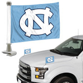 "North Carolina Tar Heels Ambassador 4"" x 6"" Car Flag Set of 2"