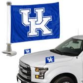 "Kentucky Wildcats Ambassador 4"" x 6"" Car Flag Set of 2"