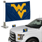 "West Virginia Mountaineers Ambassador 4"" x 6"" Car Flag Set of 2"
