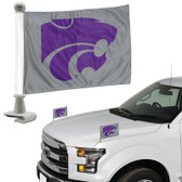 "Kansas State Wildcats  Ambassador 4"" x 6"" Car Flag Set of 2"
