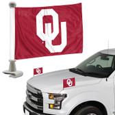"Oklahoma Sooners Ambassador 4"" x 6"" Car Flag Set of 2"