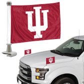 "Indiana Hoosiers Ambassador 4"" x 6"" Car Flag Set of 2"