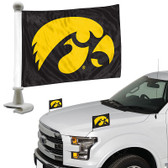 "Iowa Hawkeyes   Ambassador 4"" x 6"" Car Flag Set of 2"
