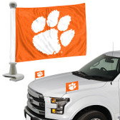 "Clemson Tigers Ambassador 4"" x 6"" Car Flag Set of 2"