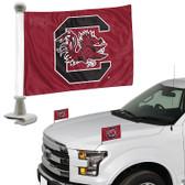 """South Carolina Gamecocks Ambassador 4"""" x 6"""" Car Flag Set of 2"""
