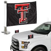 "Texas Tech Red Raiders Ambassador 4"" x 6"" Car Flag Set of 2"