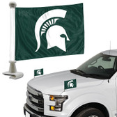 "Michigan State Spartans Ambassador 4"" x 6"" Car Flag Set of 2"