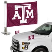 "Texas A&M Aggies Ambassador 4"" x 6"" Car Flag Set of 2"