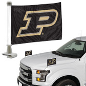 "Purdue Boilermakers Ambassador 4"" x 6"" Car Flag Set of 2"