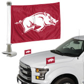 "Arkansas Razorbacks Ambassador 4"" x 6"" Car Flag Set of 2"