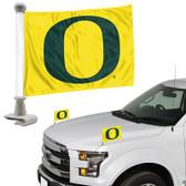 """Oregon Ducks Ambassador 4"""" x 6"""" Car Flag Set of 2"""