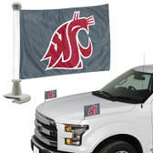 "Washington State Cougars Ambassador 4"" x 6"" Car Flag Set of 2"