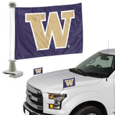 "Washington Huskies Ambassador 4"" x 6"" Car Flag Set of 2"