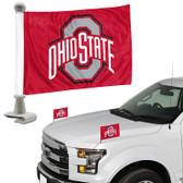 "Ohio State Buckeyes Ambassador 4"" x 6"" Car Flag Set of 2"