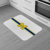 "Michigan Wolverines Burlap Comfort Mat 29""x18""x0.5"""